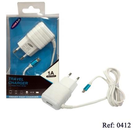 CARGADOR DE RED 2 EN 1 MICRO-USB UNIVERSAL